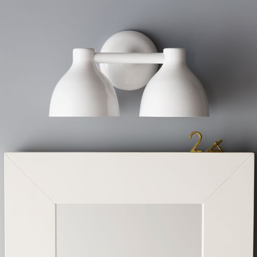 Contour Double Sconce   Contemporary   Bathroom Lighting And Vanity Lighting    West Elm