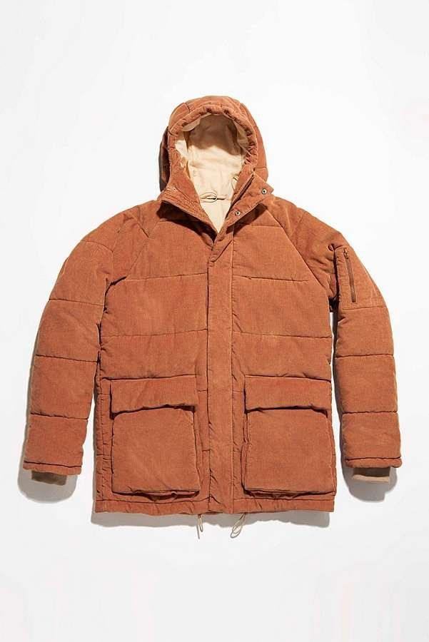 6c695a5ac226f UO Kevin Rust Corduroy Puffer Jacket | Urban Outfitters | Men's | Coats &  Jackets #UOEurope #UrbanOutfittersEU #UOMens