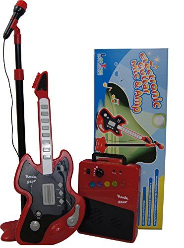 Kids Electronic Guitar, Microphone w/stand