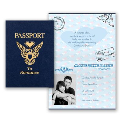 Passport - Save The Date | Perfect for a destination wedding or a ...