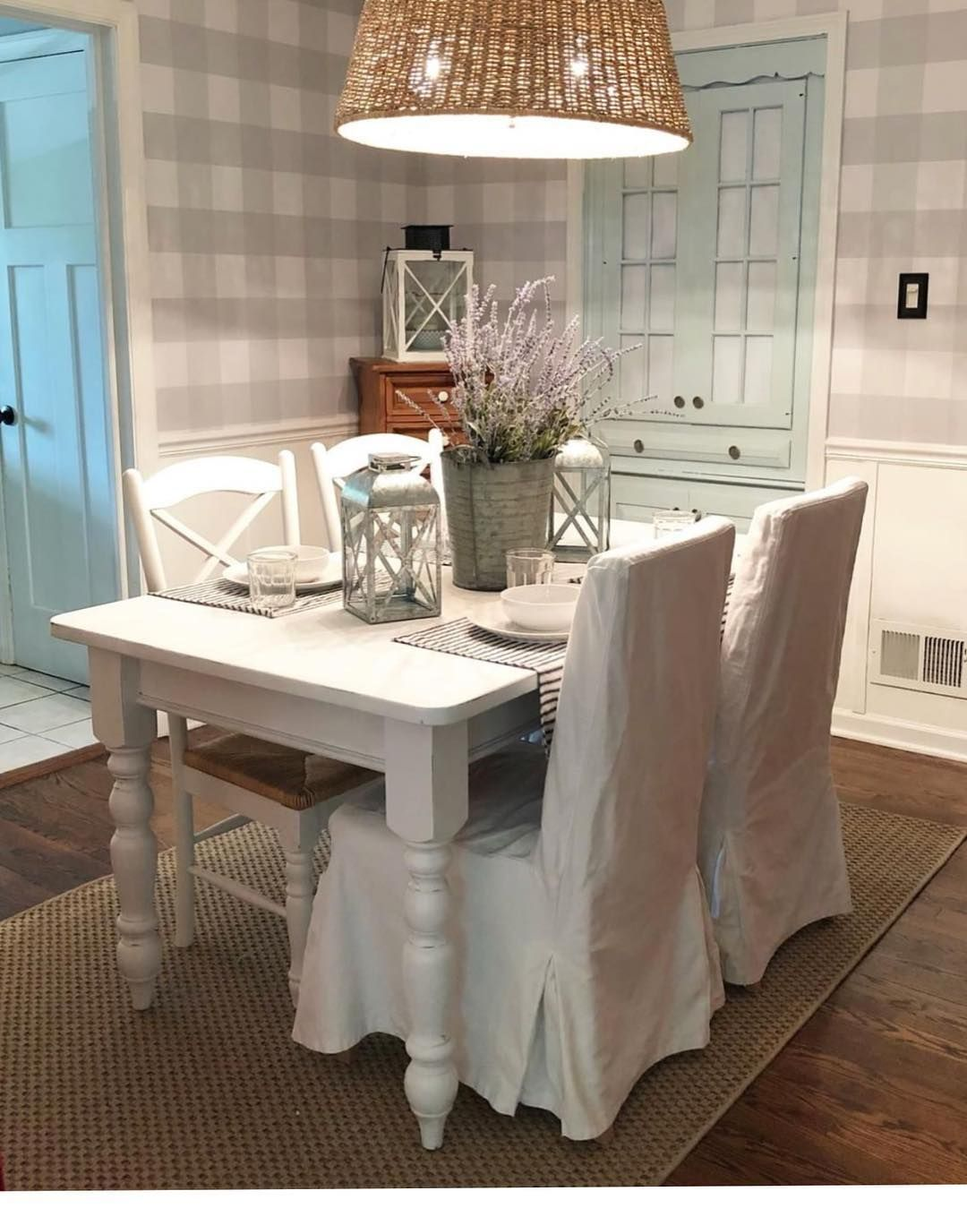 Farmhouse grey and white gingham peel and stick wallpaper