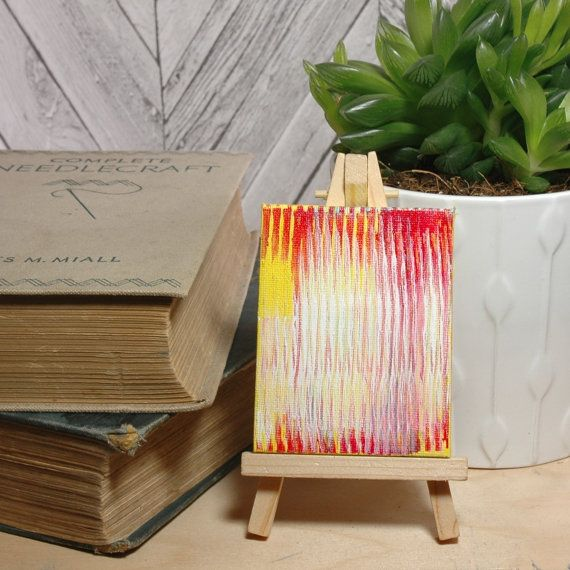 Apartment Decor, Flux Art, Cubicle Accessory, Colleague Gift, Present for Coworker, Desk Worker Gift, Unique Desk Accessory, Dorm Room Decor