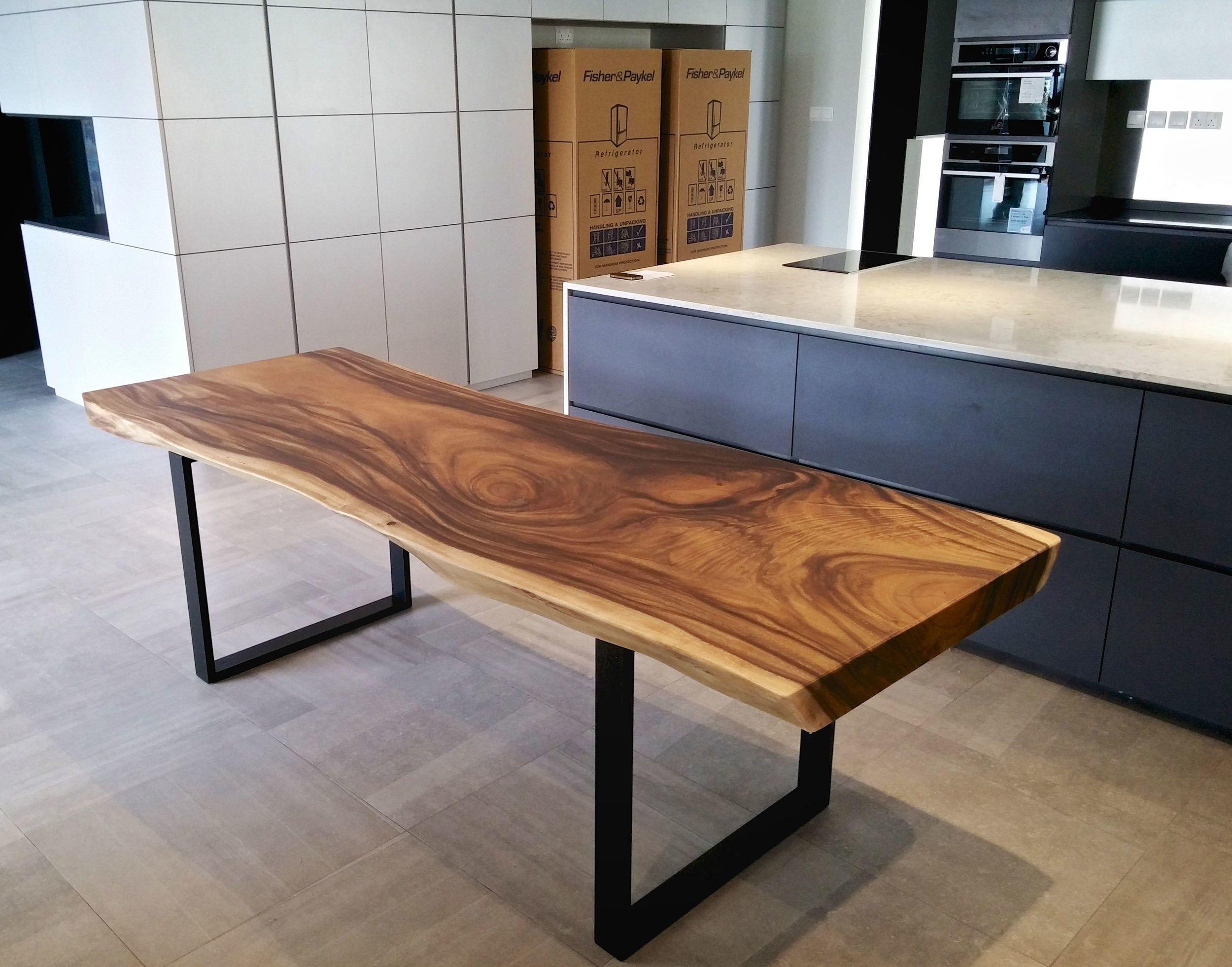 Hot Item Home Furniture Stainless Steel Rectangular Solid Wood Large Dining Table In Foshan V 2021 G Derevyannyj Obedennyj Stol Domashnij Dekor Kuhni Stol Iz Massiva Dereva [ 1961 x 2500 Pixel ]