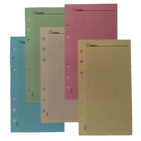 6 fogli Ricambio divisori colorati in ppl 14,5x21 per agende organizer