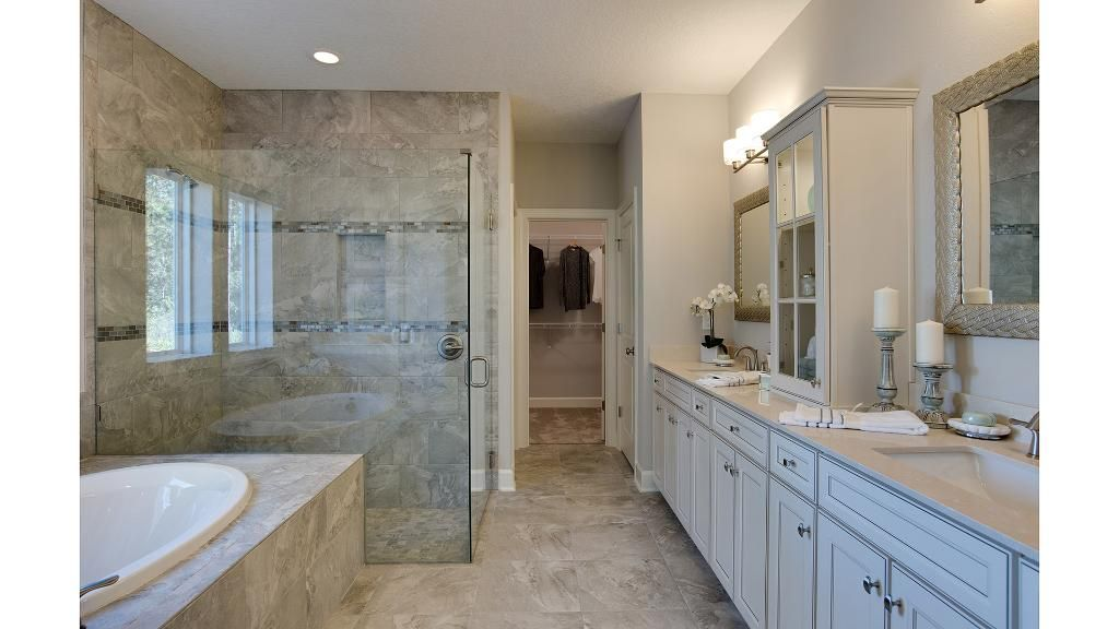 Master Bathroom With Glass Walk In Shower The San Pablo Floor