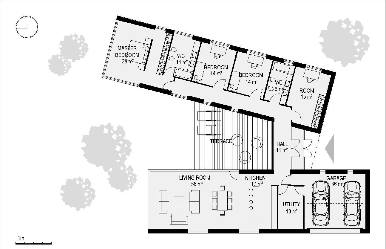 Pin by B555 R555 on Zanimljivi projekti   L shaped house ...