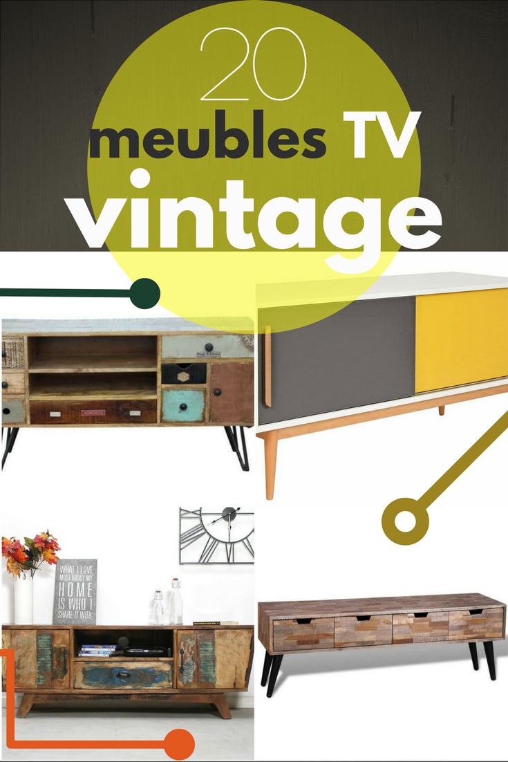 Un Peu D Originalit Avec Un Meuble Tv De Style Vintage Pour  # Meuble Tv De Style