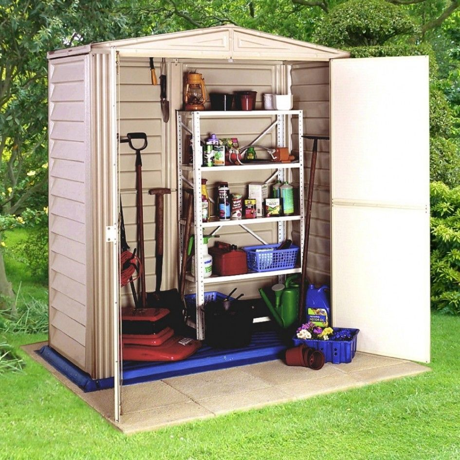 Majestic outdoor durable plastic storage cabinet from for Outside garden sheds
