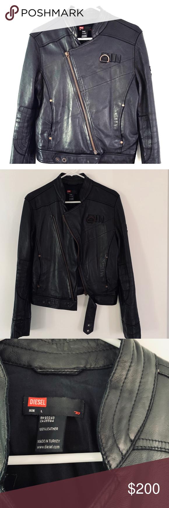 Vintage Diesel Leather Jacket Vintage Diesel Black Leather Jacket 100 Leather This Vintage Motorcycle Jacket Looks Gre Leather Jacket Jackets Diesel Jacket [ 1740 x 580 Pixel ]