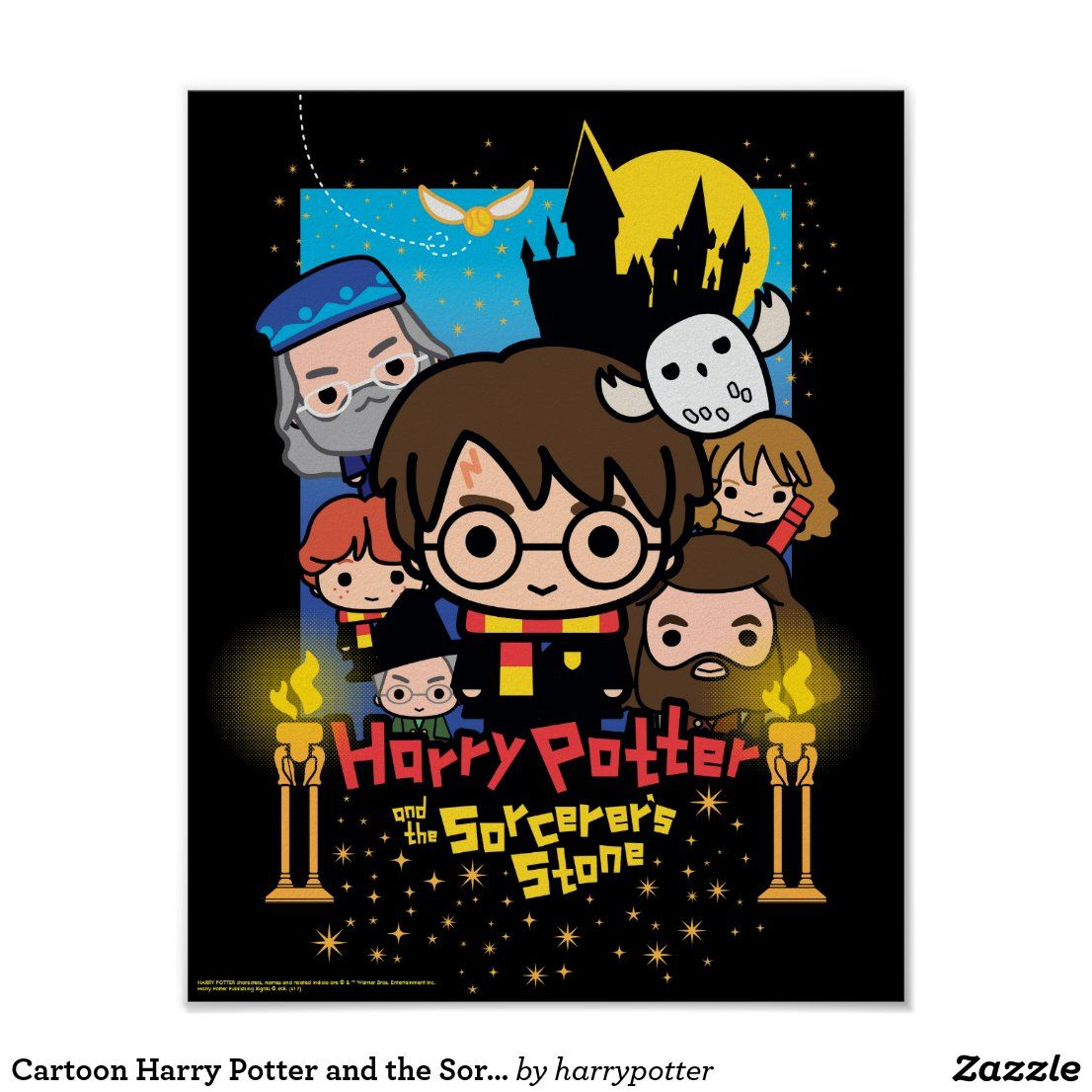 Cartoon harry potter and the sorcerers stone poster