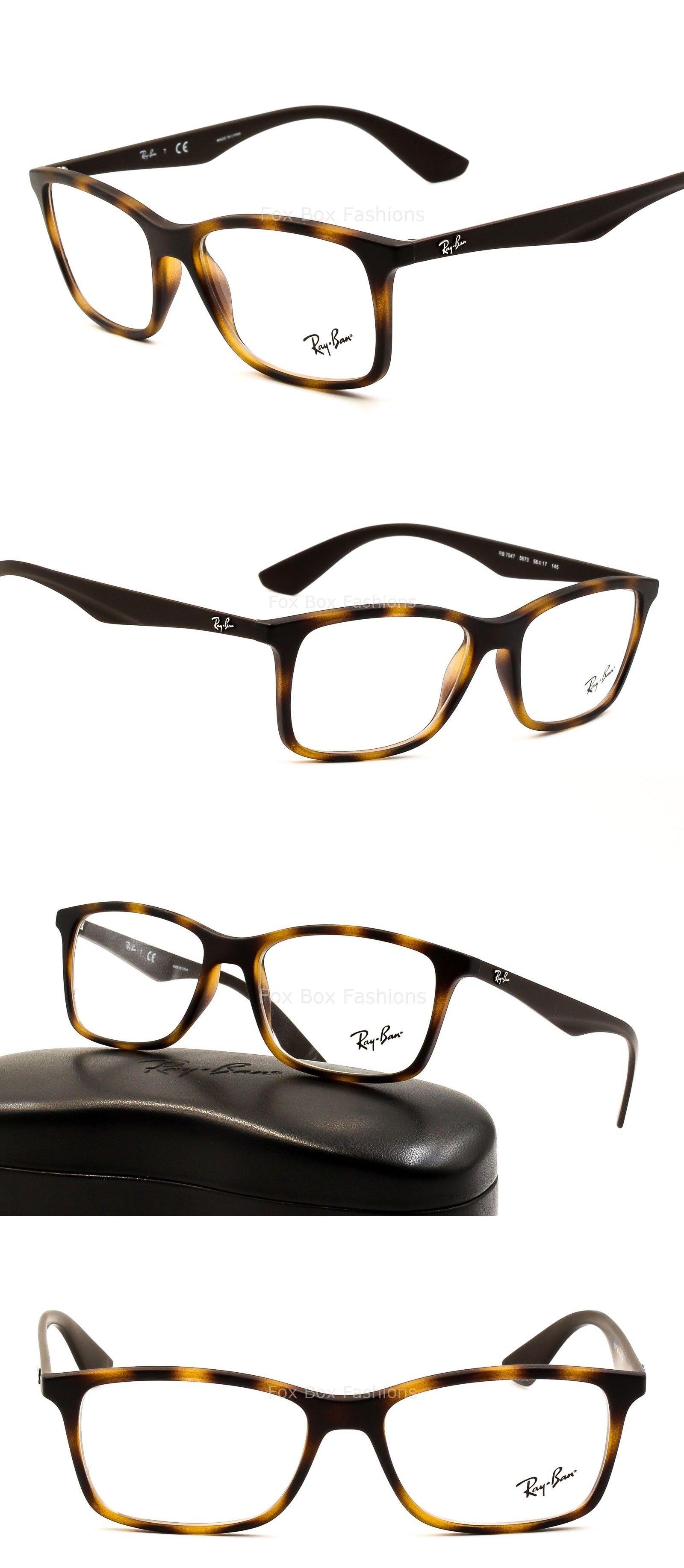 d5cd501e594 Eyeglass Frames  Ray-Ban 7047 5573 Eyeglasses Optical Frames Glasses Matte  Tortoise 56Mm ~ W Case -  BUY IT NOW ONLY   74.95 on eBay!