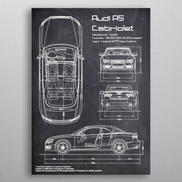 The Audi A5 is a series of executive coupe cars produced by the German… | Displate thumbnail