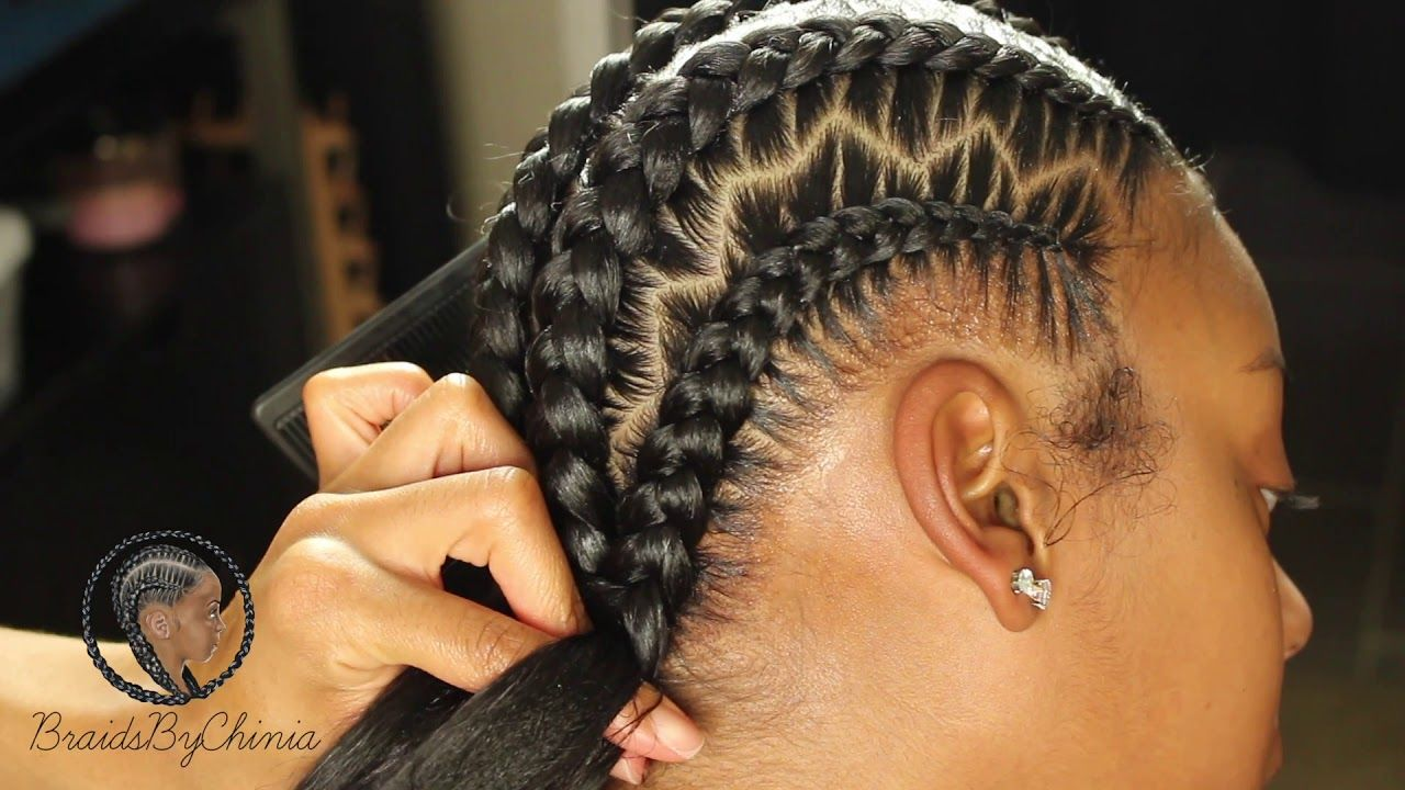 Zig Zag Stitch Braids Youtube Stitch Braids Braids Zig Zag Braid