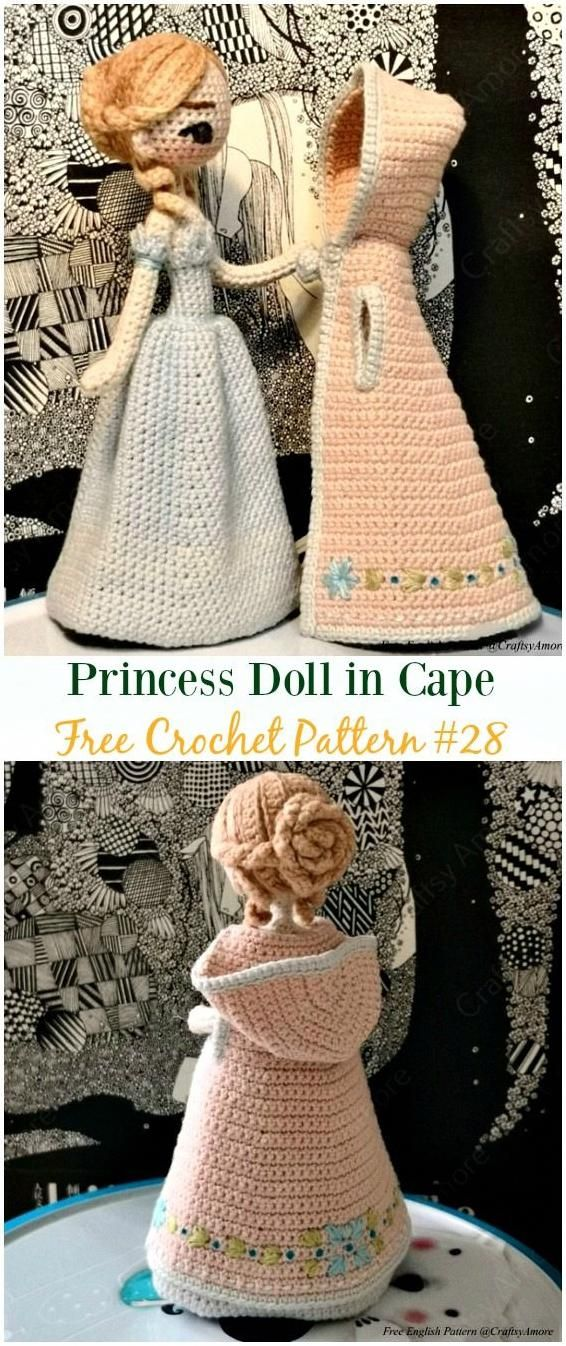 28 Best Amigurumi Doll Designs of March. Different Crochet Doll Dress ideas  - Best Amigurumi | 1346x566