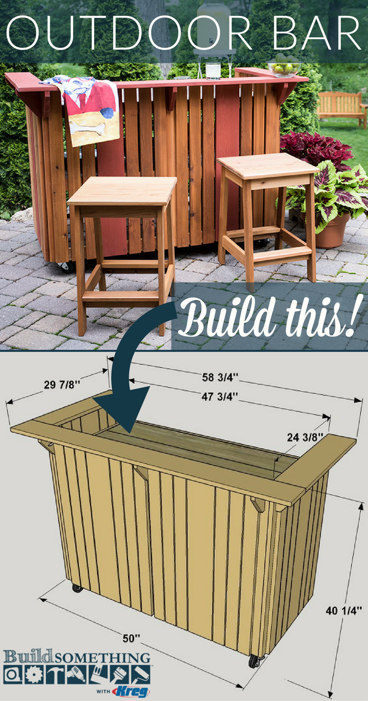 Diy Outdoor Bar Free Printable