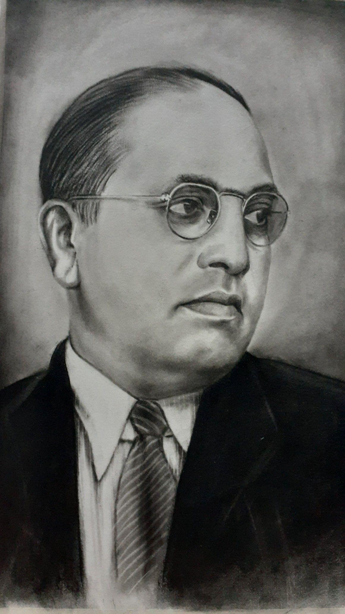Dr Br Ambedkar Charcoal Art Art Sketches Cool Drawings