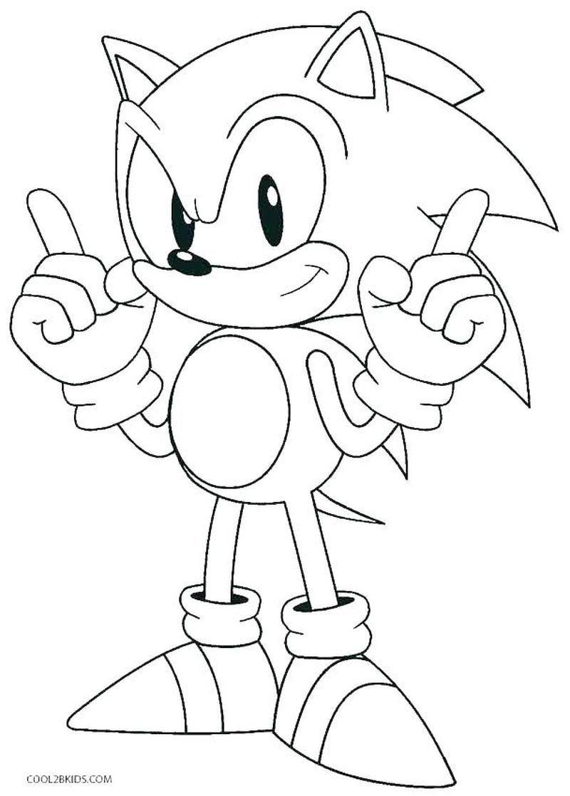 Sonic The Hedgehog Coloring Pages Disegni Semplici Disegni Da Colorare Disegni