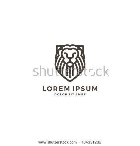 Lion shield line art outline logo template vector icon animal lion shield line art outline logo template vector icon pronofoot35fo Image collections