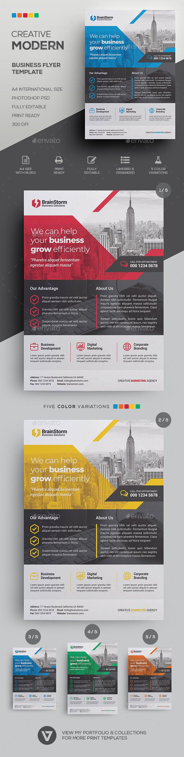 Corporate Business Flyer Template   Business flyer templates ...