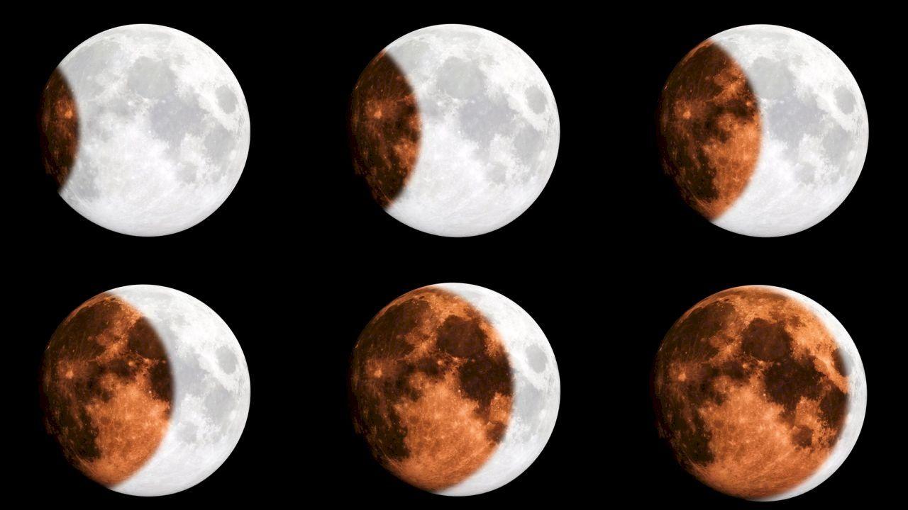 مراحل تطور القمر Moon Celestial Bodies Celestial