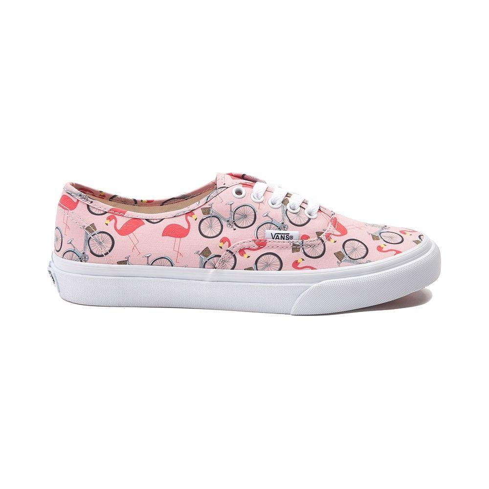 861cfd5203 New Vans Authentic Slim Flamingos Skate Shoe Peach Womens Shoes ...