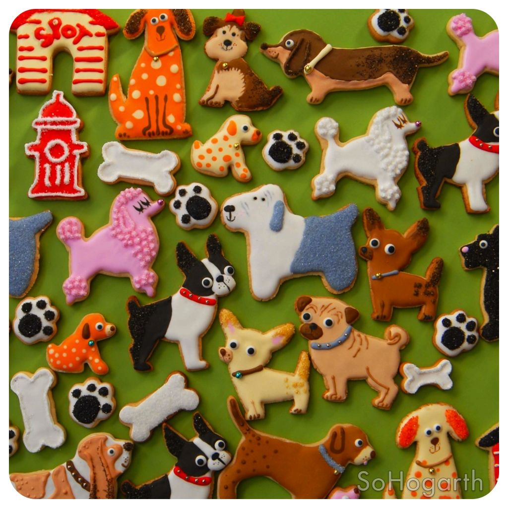 dog cookies, puppy party Animal cookies, Animal