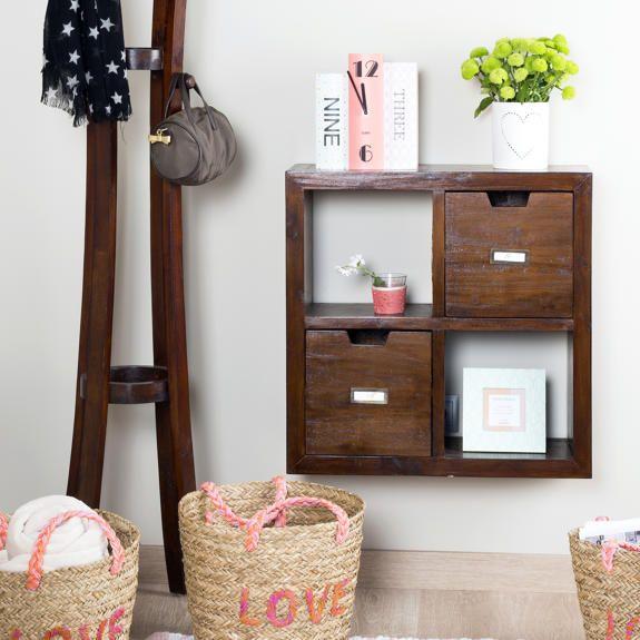 Riga mueble colgante 4 huecos decoraci n pinterest hueco muebles colgantes y colgantes - Banak importa recibidores ...