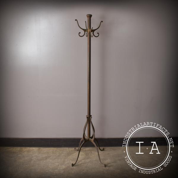 Rare Vintage Industrial Antique Cast Iron Coat Rack Tree Hook Hanger Hat Standing Stand Front Hall Vintage Coat Rack Antique Coat Rack Antique Cast Iron