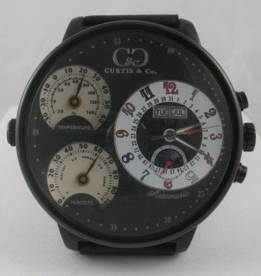 CURTIS & CO. Black Automatic Watch Steel