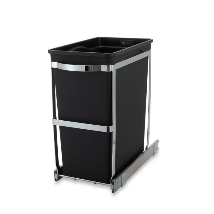 Best Simplehuman® Commercial Grade 30 Liter Pull Out Trash Can 400 x 300
