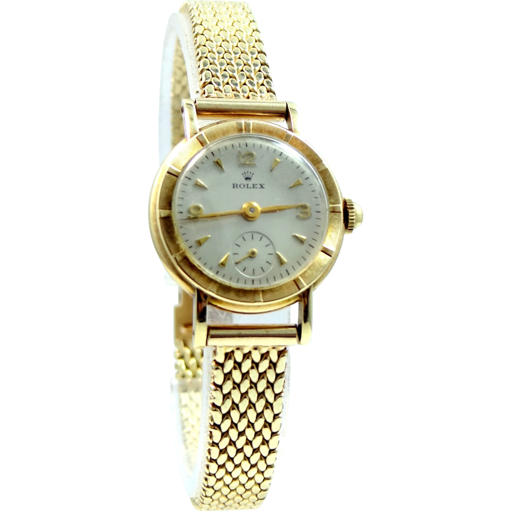 edc7fdd1491309 Ladies Retro 14k Gold ROLEX Wrist Watch 14k Gold Case   Band in 2019 ...