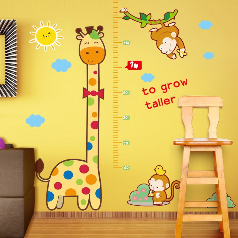 Growth Chart Wall Decal Height Decal With Two Giraffes