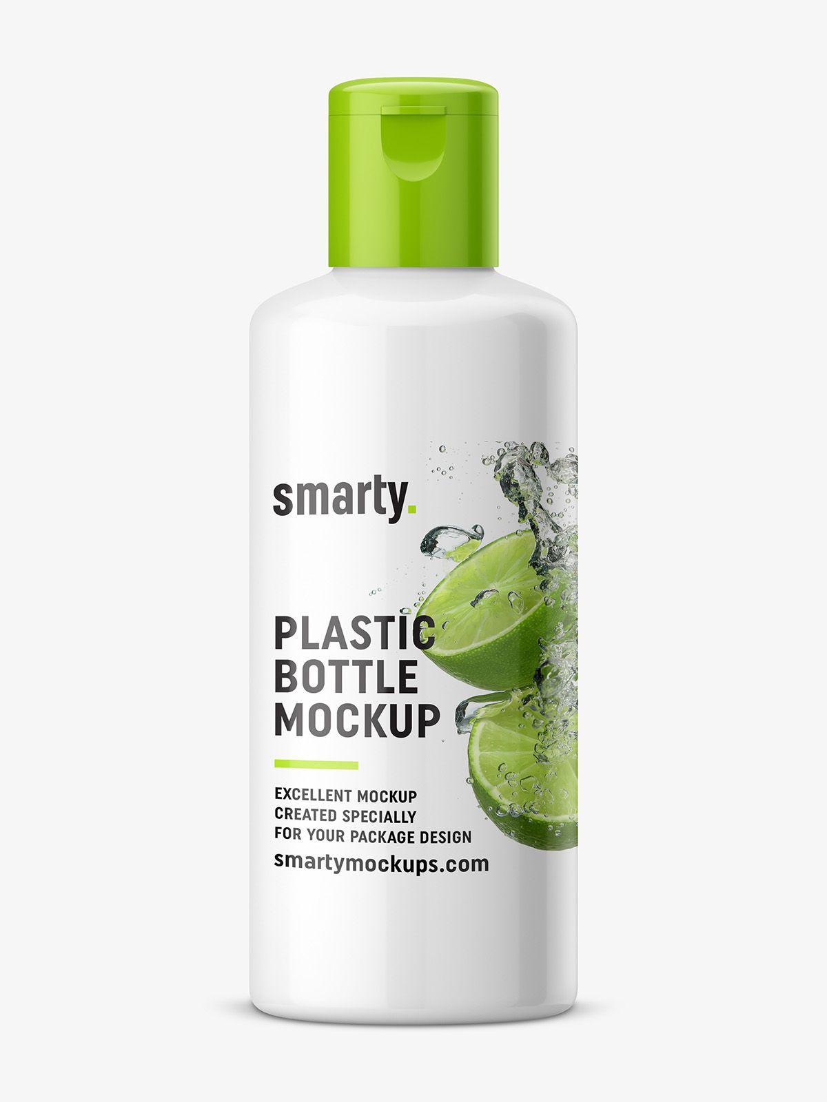 Glossy Plastic Bottle Mockup Bottle Bottle Mockup Plastic Bottles