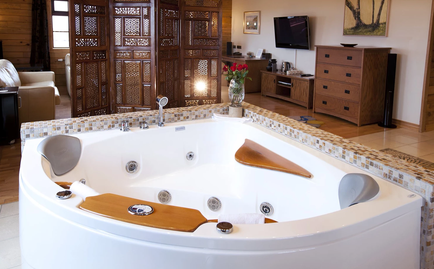The Bathtub In Our Royal Suite Is In The Middle Of The Room A
