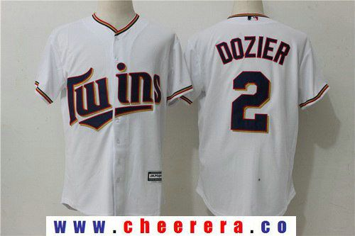 mens minnesota twins 2 brian dozier white home stitched mlb majestic cool base jersey