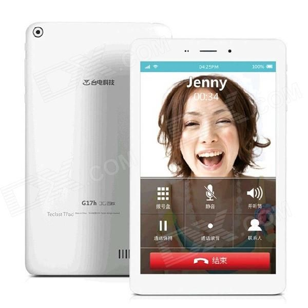 "Teclast G17H 7"" Quad Core Android 4.2 3G Phone Tablet w/ 1GB RAM, 8GB ROM, Bluetooth, Wi-Fi - White Price: $98.42"