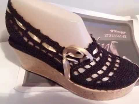 Como tejer un zapato en crochet por Myriam Mora - YouTube | Tejidos ...