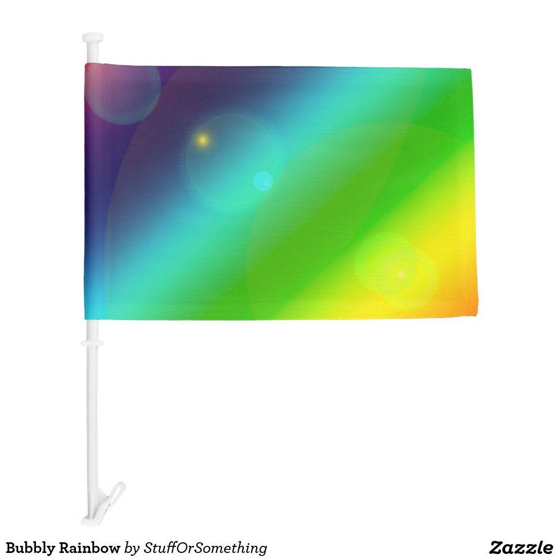 Bubbly Rainbow Car Flag