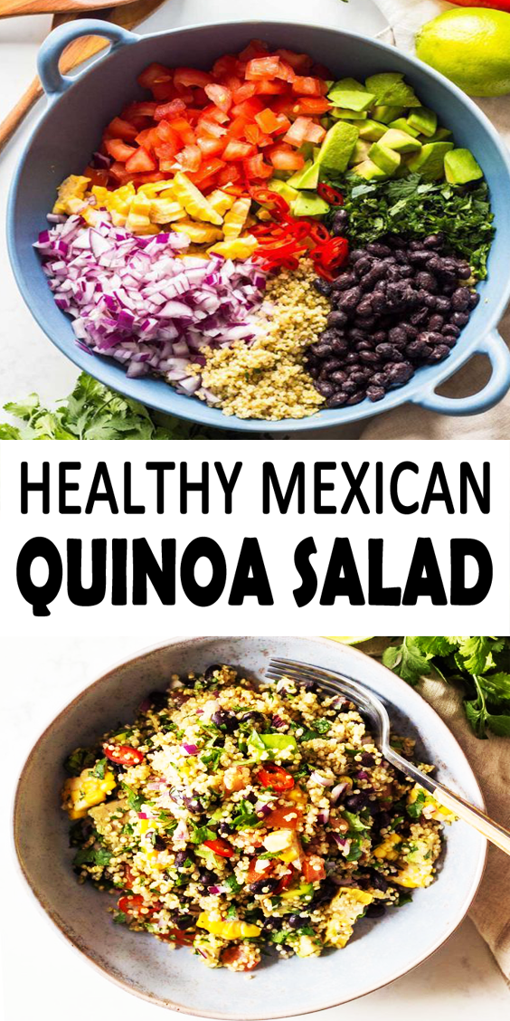 Vegan Mexican Quinoa Salad - Simplykitch
