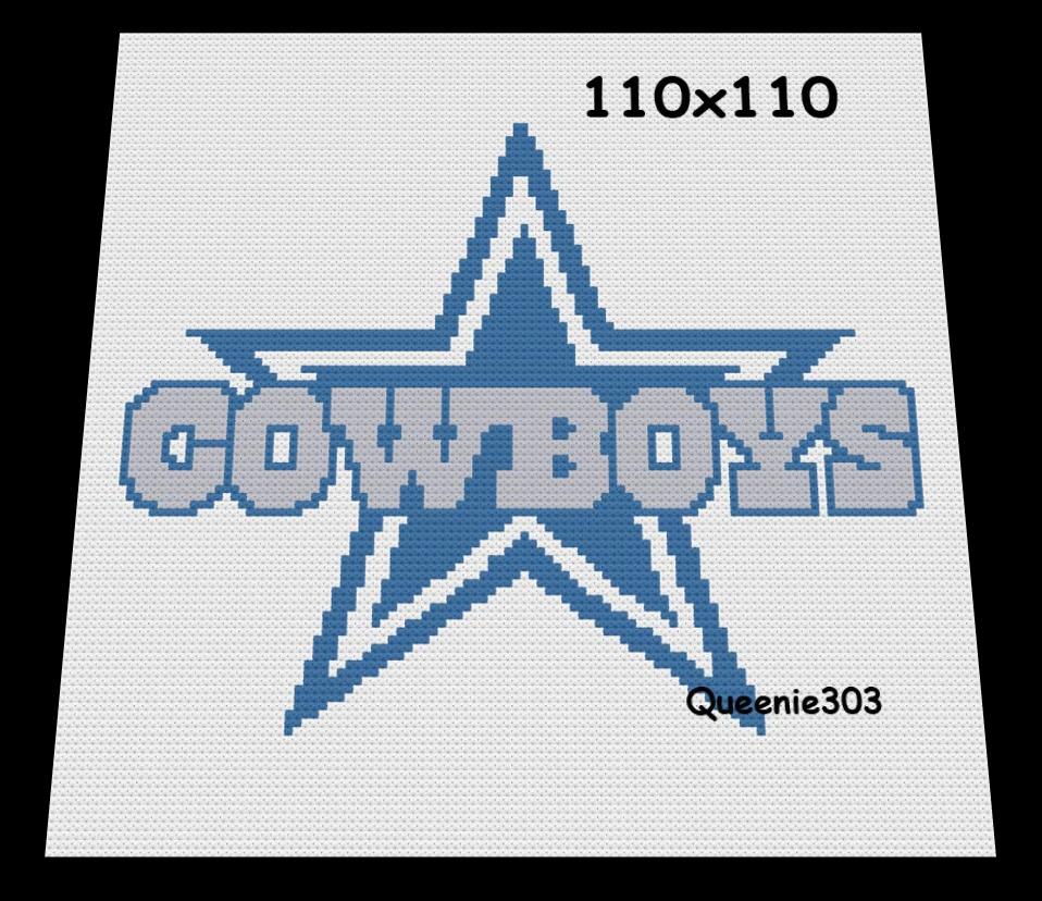 Cowboys 110x110 Cowboy Crochet Cowboy Embroidery Red Heart Yarn