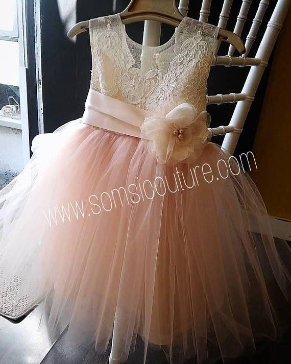 ddd9b9e8fff Stunning Isabella flower girl dress tea length on Etsy