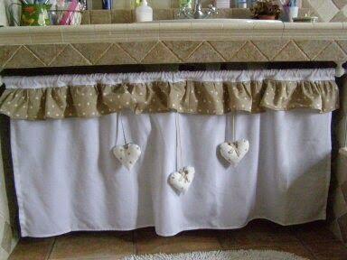 Set romantico per il bagno bagno tende e tenda - Tendine per il bagno ...