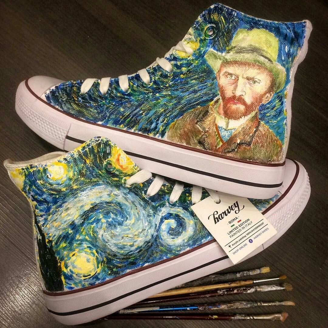 bec3a747f51e1 Starry Night Vincent van Gogh | Harvey Shoes | Starry Night Vincent ...
