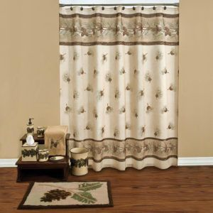Saturday Knight Outhouse Shower Curtain