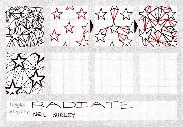 Radiate - tangle pattern