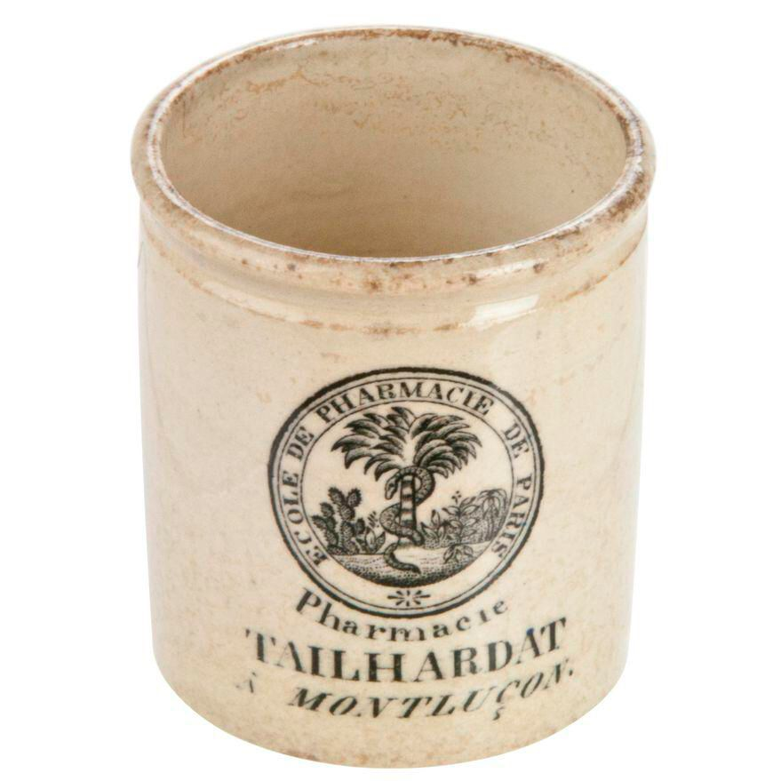 Vintage French Pharmacy Crock on Chairish.com