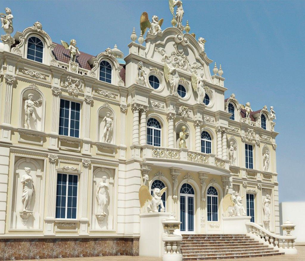 Professional luxury villa exterior designs in qatar - Professional Exterior Design In Qatar By Antonovich Design