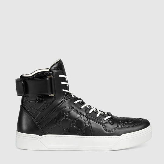 Gucci Signature high-top sneakers - Black Gucci u2wHHpI