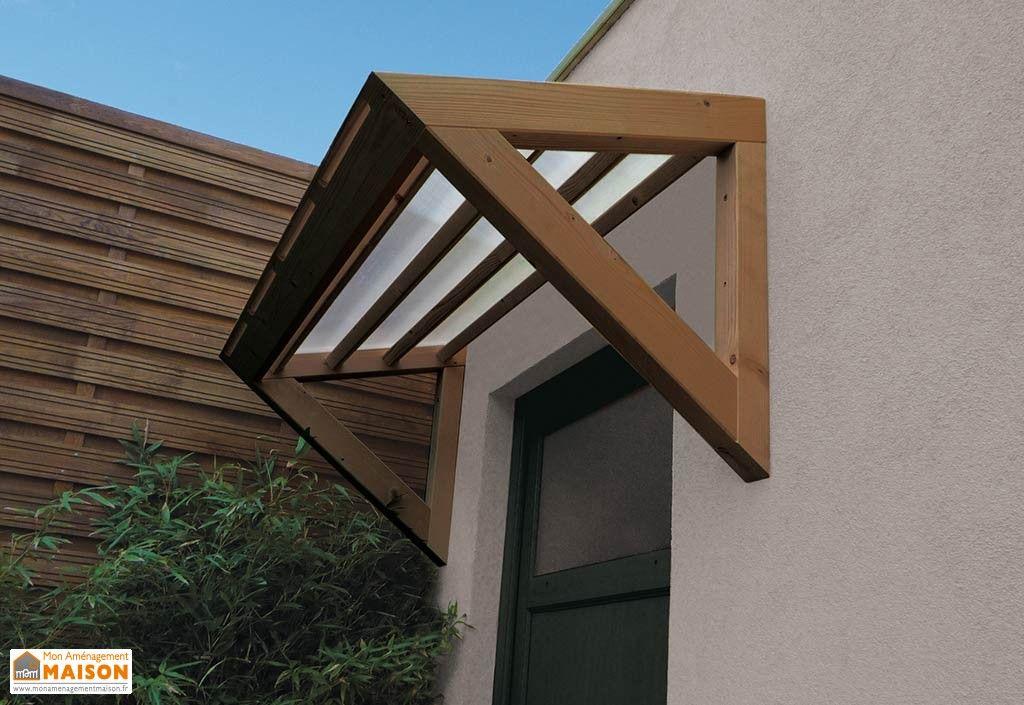 Auvent pour Porte du0027Entrée 1 Pan 3D en Sapin et Polycarbonate - dimensions porte d entree