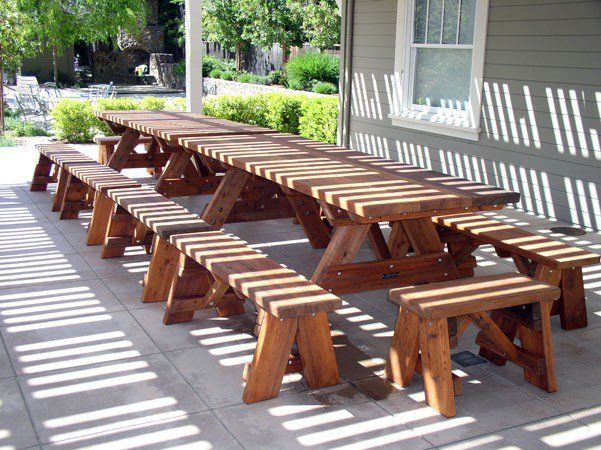 Peachy Heritage Picnic Tables Options 8 L 34 1 2 W Side End Customarchery Wood Chair Design Ideas Customarcherynet